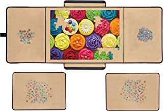 Jigsaw Puzzle Board Portable Puzzle Mat, Store and Transport Jigsaw Puzzles Up to 1000 Pieces, Non-Slip Felt Surface, Ligh...