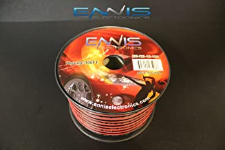 10 GAUGE 100 FT RED BLACK SPEAKER ZIP WIRE AWG CABLE POWER STRANDED COPPER CLAD BY ENNIS ELECTRONICS