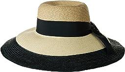 Color Block Wide Brim Floppy Hat