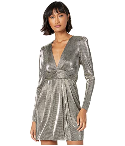 BCBGeneration Metallic Empire Waist Dress TOM6263885 (Gold) Women