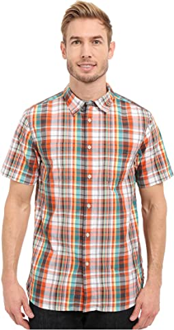 Short Sleeve Solar Plaid Shirt