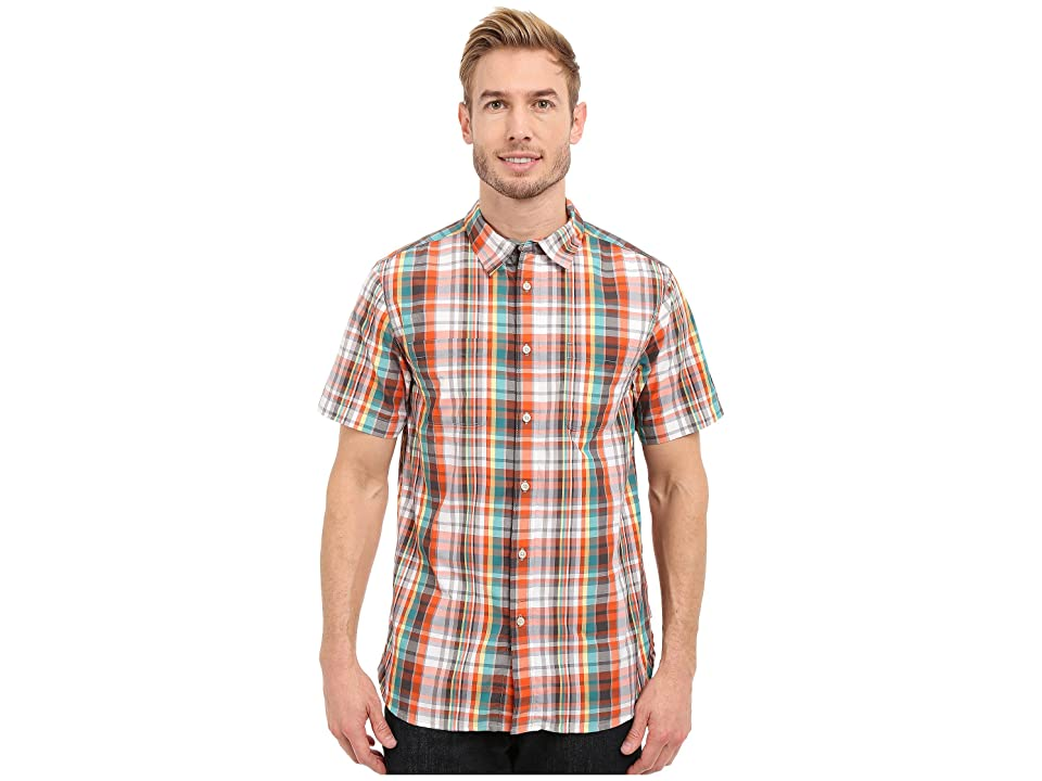 The North Face Short Sleeve Solar Plaid Shirt (Mid Grey/Asphalt Grey Plaid (Prior Season)) Men