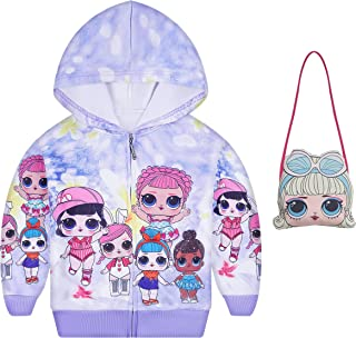 LMM Toddler Girl Coats Kids Hoodie Pullover Sweater Cartoon Jacket for Gift