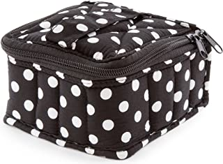 Plant Therapy Soft Essential Oils Carrying Case. 16-bottle 5mL, 10mL & 15mL - 3x5x5 - Polka Dot/Black