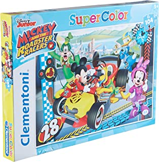 Clementoni - 27984 - Supercolor Puzzle - Mickey and the Roadster Racers - 104 Pièces - Disney