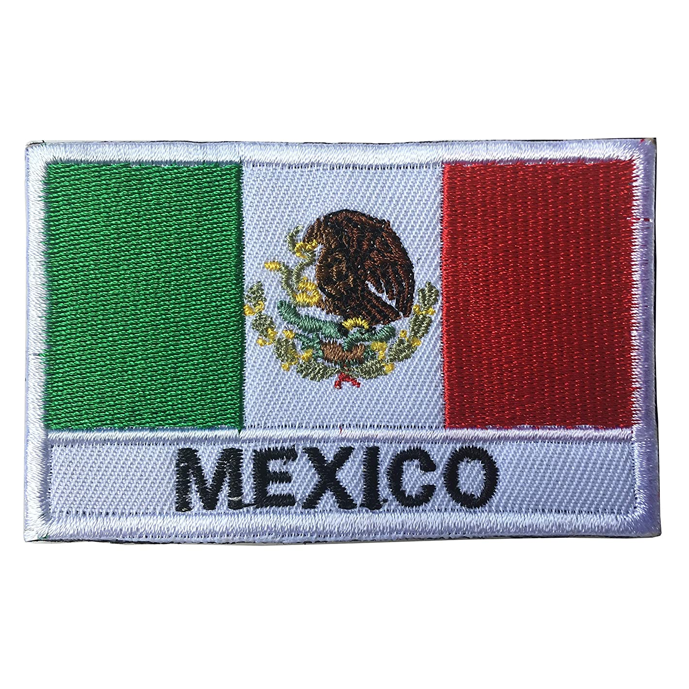 Mexico National Flag Emblem Embroidered Iron-On Patch (2