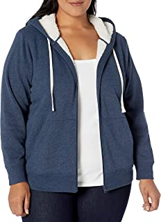 Amazon Essentials Women's Plus Size Sherpa-Lined Full-Zip Hoodie