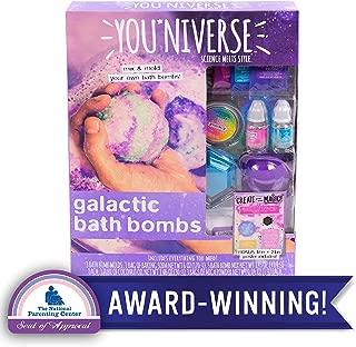 Youniverse Galactic Bath Bomb by Horizon Group USA, DIY Bath Bomb Making Kit, Make 5 Fizzing Bath Bombs