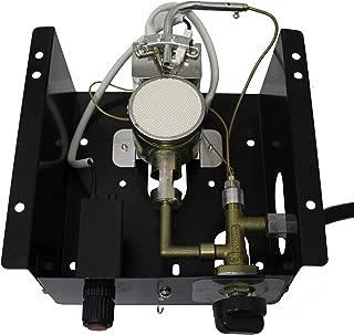 Hiland 6BOLT SGT 6 Bolt Hole Pattern Burner for Square Glass Tube Patio Heater w/Regulator, One Size, Grey