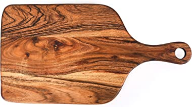 Badiwal Interio Acacia Wood Cutting Board - Wooden Kitchen Chopping Boards for Meat, Cheese, Bread, Vegetables &Fruits- K