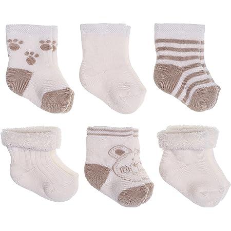 Jacobs Babymoden Calcetines para bebé, pack de 6 (0-3 meses), algodón, sin sustancias nocivas