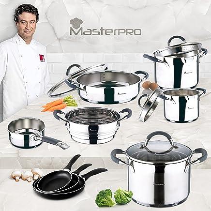 Amazon.es: MasterPro - Antiadherente / Sartenes y ollas / Menaje de ...