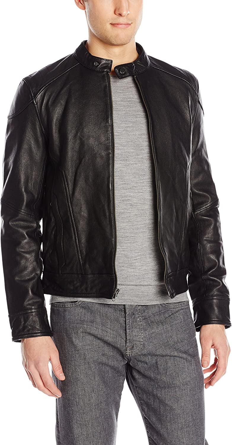 7 For All Mankind Men's Leather Jacket