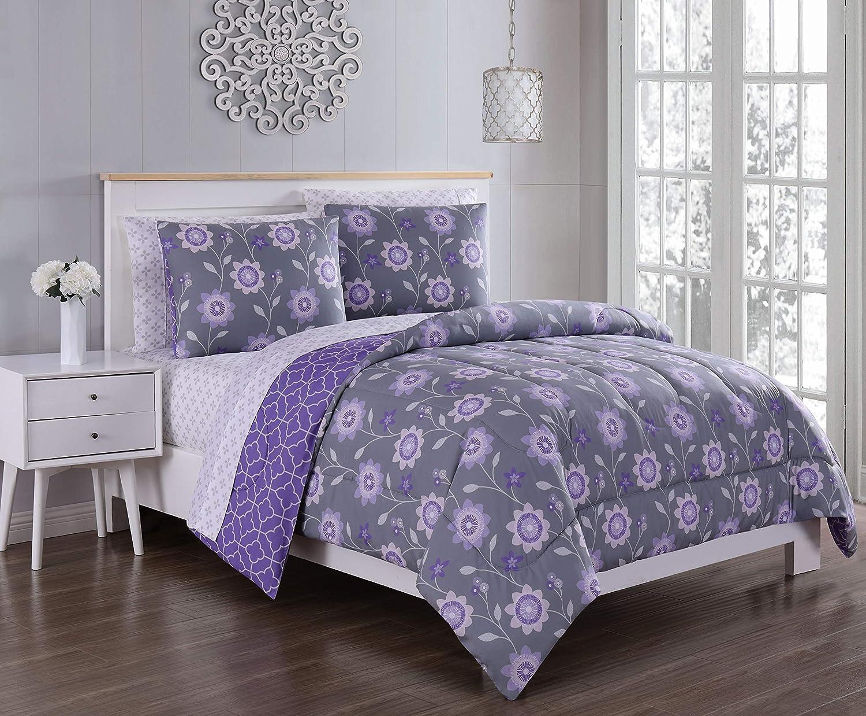 Geneva Home Fashion Britt Bed in Purple 開店記念セール 新着セール Bag a Grey Queen