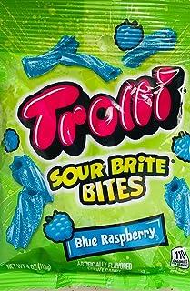 Trolli Sour Brite Bites Chewy Candy, Blue Raspberry Flavor, 4.00 oz