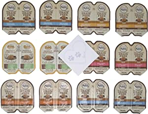 Nutro Perfect Portions Grain Free Variety Pack, 6 Different Flavors: Real Salmon & Tuna, Chicken & Shrimp, Chicken & Liver, Turkey, Salmon & Chicken(12 cans total, 24 servings)