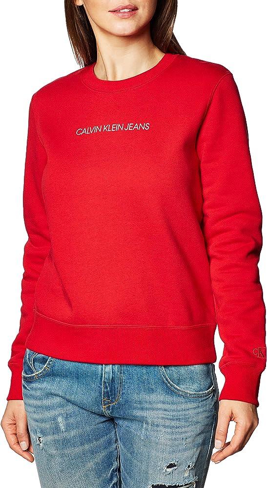 Calvin klein ,maglione,felpa per donna,in 63% cotone, 37% poliestere J20J214807