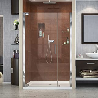 DreamLine Elegance 46-48 in. W x 72 in. H Frameless Pivot Shower Door in Chrome, SHDR-4146720-01