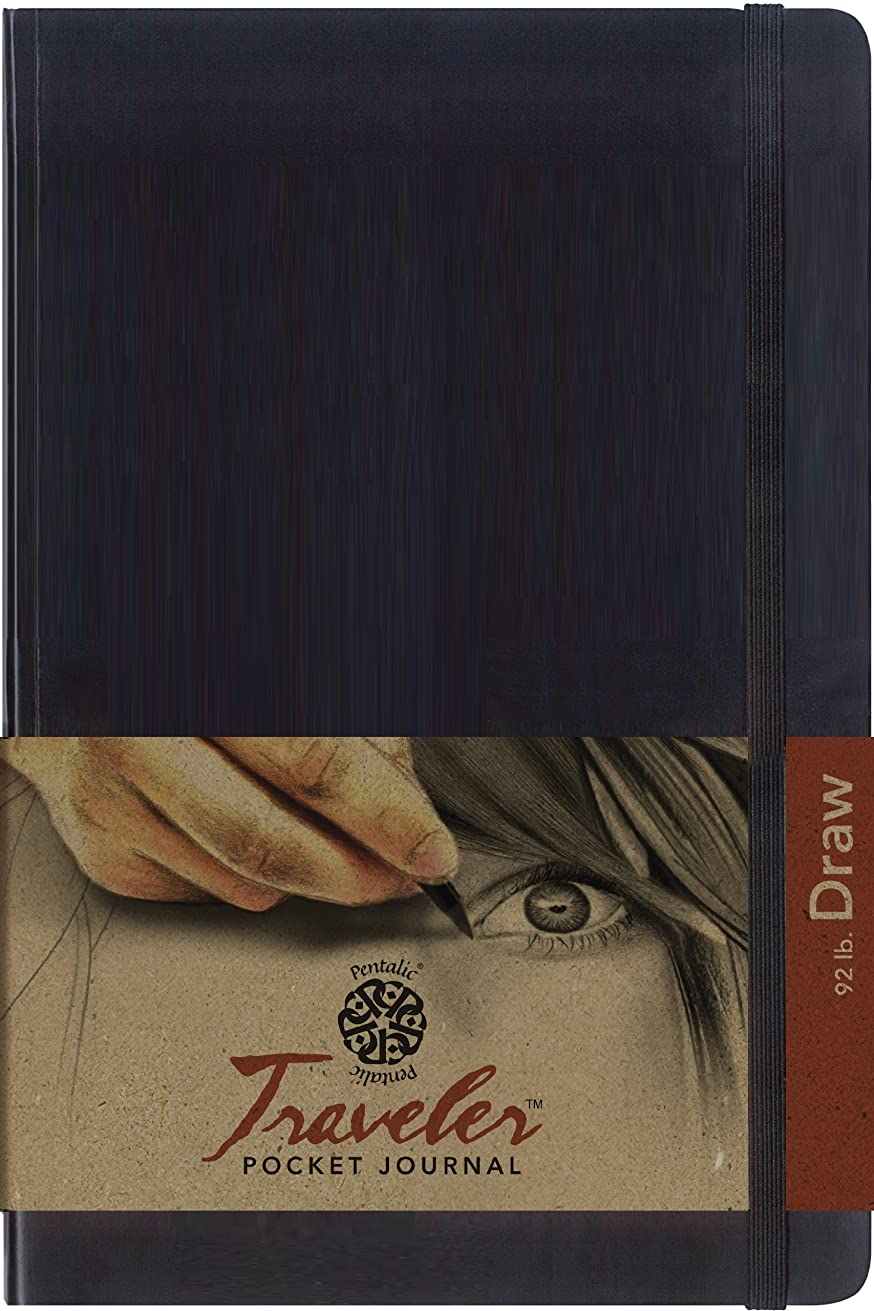 Pentalic Art Drawing Book, 9 by 6-Inch, Black