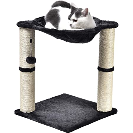 Amazon Basics Cat Condo Tree Tower with Hammock Bed and Scratching Post