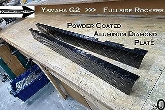 J & O Carts Parts Yamaha G2-G9 Golf Cart Powder Coated Aluminum Diamond Plate FullSide Rocker Set