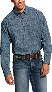 ARIAT Men's Longmont Print Stretch Classic Fit Shirt