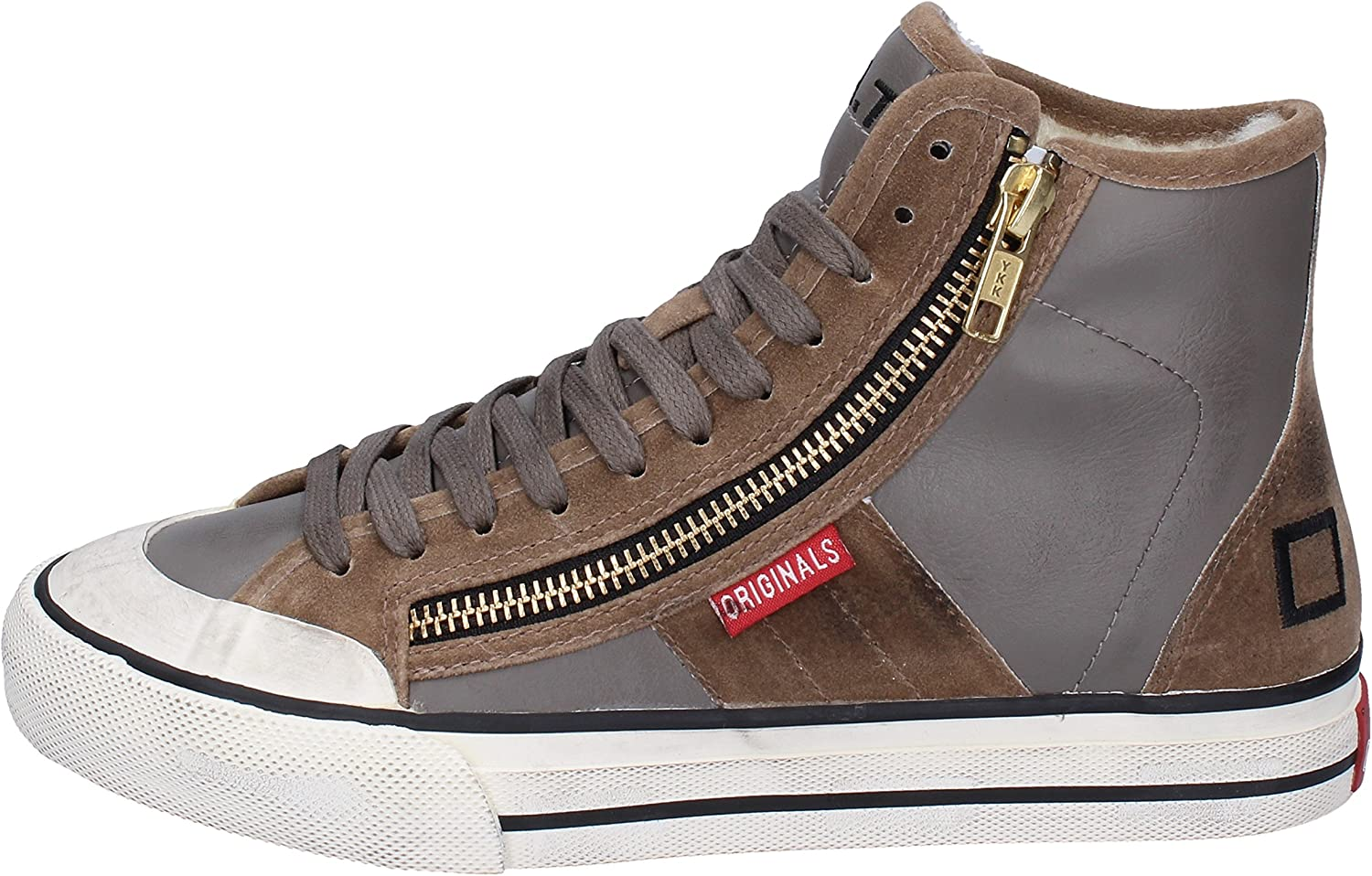 D.A.T.E. (DATE) Fashion-Sneakers Womens Leather Grey