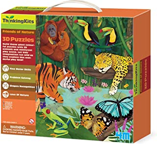 4M 3D Floor Puzzles Rainforest 00-04678 Toy, For 4 Years