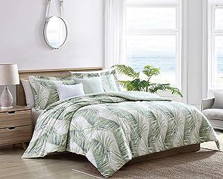 Tommy Bahama   5pc Comforter Set - 100% Cotton, Reversible, All Season Bedding with Bonus Throw Pillows, Oeko-Tex Certifie...