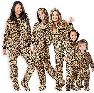 cheetah footie pajamas