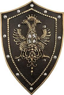 adulto unisex talla /única Atosa-62085 Atosa-62085 color dorado Accesorio para disfraz de romanos y griegos escudo 70 x 60 cm