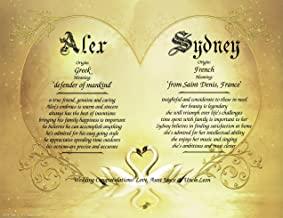 Swan Lake - Personalized ANY First Name Meaning Keepsake Print 8.5