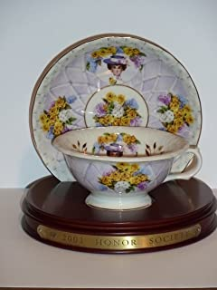 2001 AVON MRS P. F. E. ALBEE HONOR SOCIETY CUP AND SAUCER