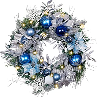 Best silver led wreath Reviews