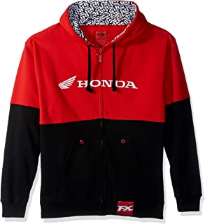 Factory Effex 15-88362 Honda' Double Hooded Zip-up Sweatshirt (Black/Red, Large)