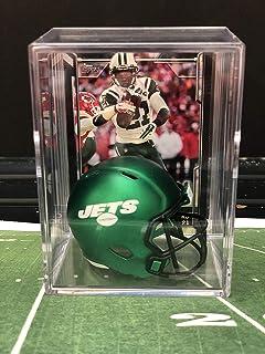 c3b2d6968bb NEW Green New York Jets NFL Helmet Shadowbox w Chris Johnson card