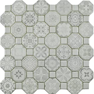 SomerTile FOSTESWT Abacu Ceramic Floor & Wall Tile, 12.25