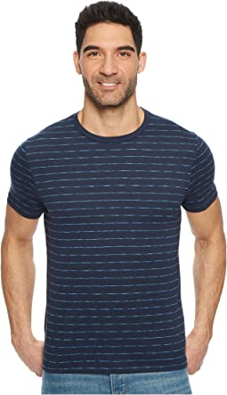 Perry Ellis Space Dye Striped Crew