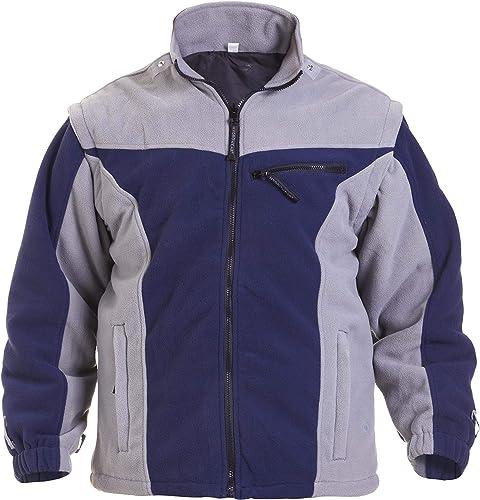 Hydrowear 04026016F Klagenfurt Polar Polaire pour homme, 100% polyester, grande taille, Bleu marine gris
