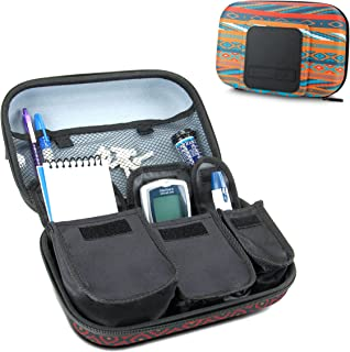 USA Gear Travel Medicine Organizer for Diabetic Supplies - Omnipod, Glucose Monitoring System, Syringes, Insulin Vials and Lancets - Compatible with ACCU-CHEK, Bayer Contour, TRUEtest - Southwest