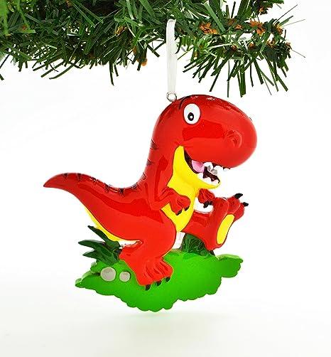 Personalized T-REX DINOSAUR Christmas Tree Ornament Present Gift Christmas Personalized Christmas Ornaments 2020 Free Customization