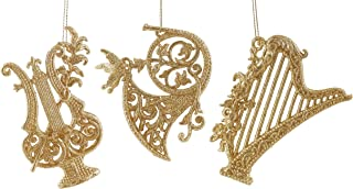Caffco Elegant Musical Instruments Hanging Christmas Ornament Set