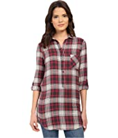 Brigitte Bailey - Clare Plaid Button Tunic