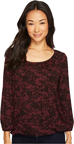 MICHAEL Michael Kors Lace Scoop Neck Peasant Top
