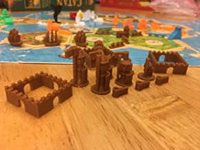 Ten Talents Trading Build3D Replacement Pieces for Settlers of Catan Cities and Knights Expansion - Ottoman - Brown
