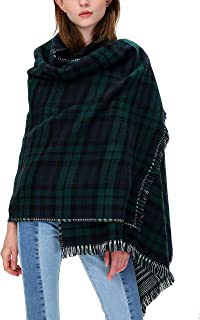 Women's Tartan Plaid Blanket Scarf Winter Checked Wrap Shawl