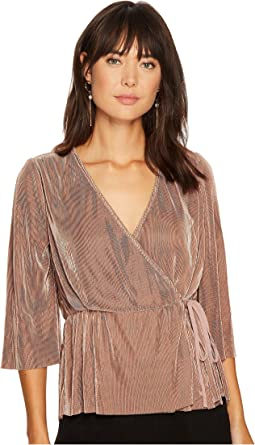 J.O.A. - Pleated Wrap Top