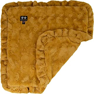 product image for BESSIE AND BARNIE Honeymoon (Ruffles) Luxury Ultra Plush Faux Fur Pet, Dog, Cat, Puppy Super Soft Reversible Blanket (Multiple Sizes)