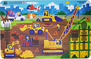Constructive Eating Worksite Placemat for Toddlers, Infants, Babies and Kids - Flatware Toy is Made with FDA Approved Mate...
