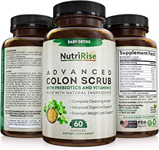 Colon Detox & Cleanser Weight Loss Support For Women & Men. Immune Support W/ Vitamin C. Fat Burner, Appetite Suppressant ...